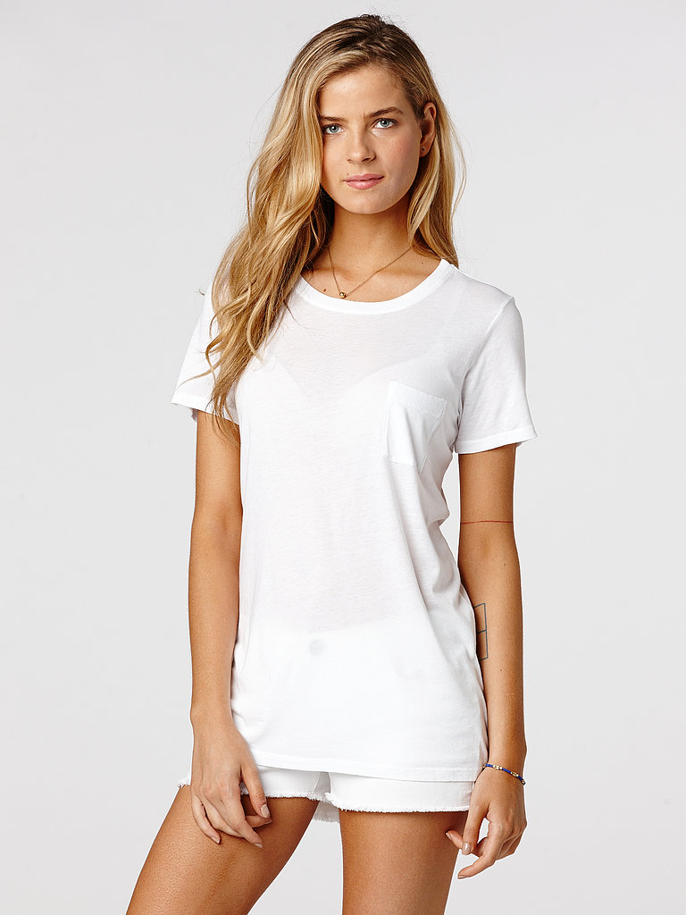 When you've heard it once, you've heard it a million times: there's nothing sexier than a simple white t-shirt. Try out the theory in C&C California's boyfriend cut ($58).