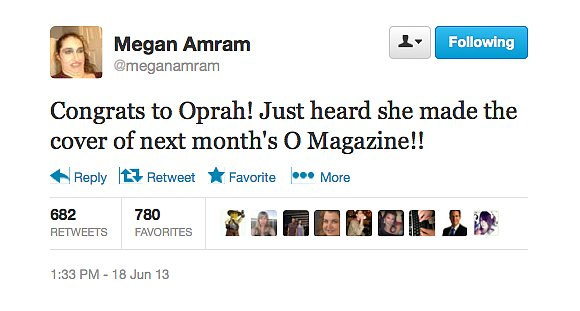 @meganamram is excited for Oprah.