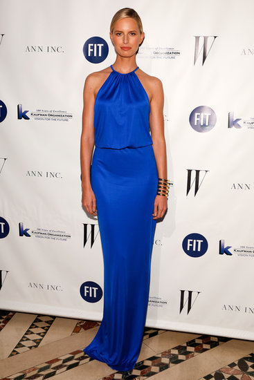 Karolína Kurková outshone all the other guests at the 2013 Fashion Institute of Technology benefit gala in a cobalt halter gown.