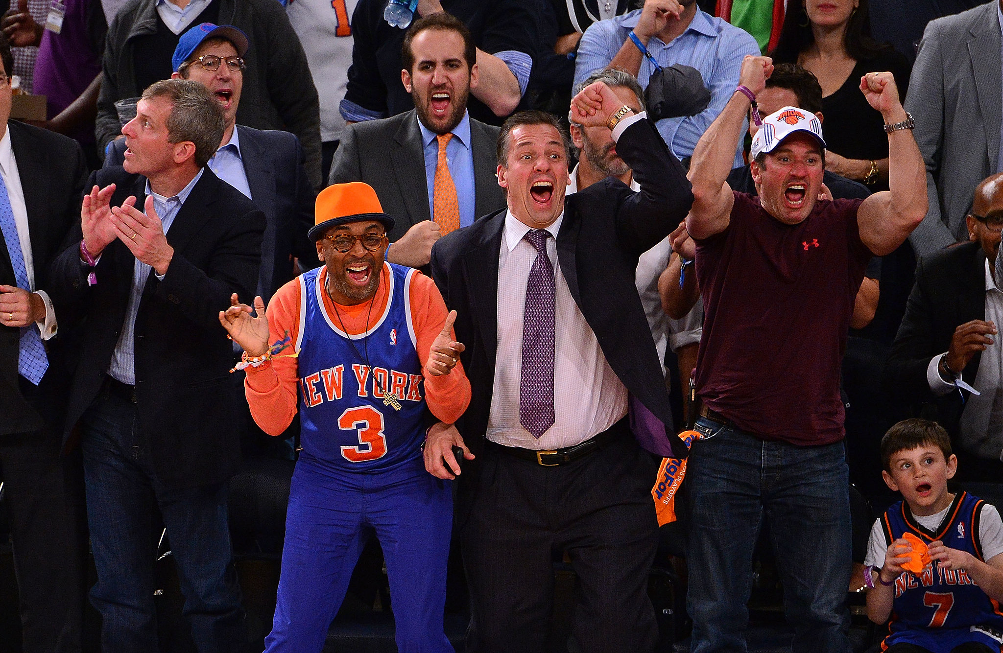 Spike Lee and company could not hold back their enthusiasm during a NY Knicks playoff game in May.