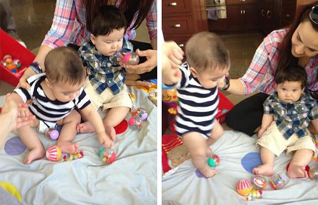 Shakira's son, Milan, had his first playdate.  Source: Twitter user Shakira
