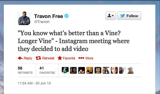 The Daily Show writer @Travon draws a clear distinction between the two competing apps.