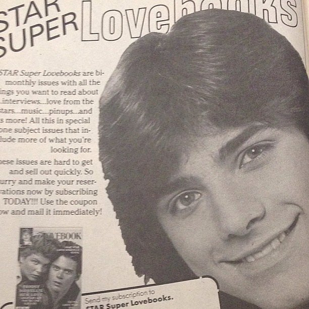 "Lori Loughlin posted a 1985 teen magazine clipping of her former Full House costar John Stamos and said, ""Now that's a real #tbt."" Source: Instagram user loriloughlin"