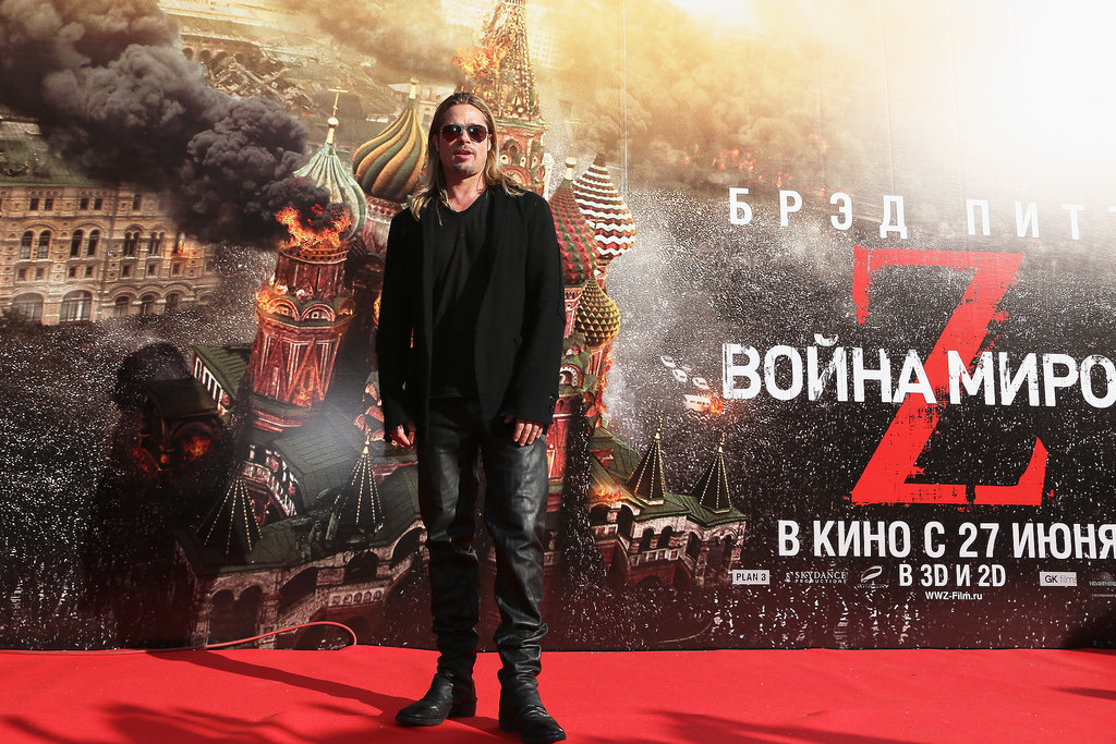 Brad Pitt attended the Moscow International Film Festival.