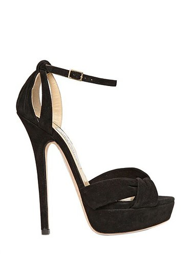 145mm Greta Suede Sandals
