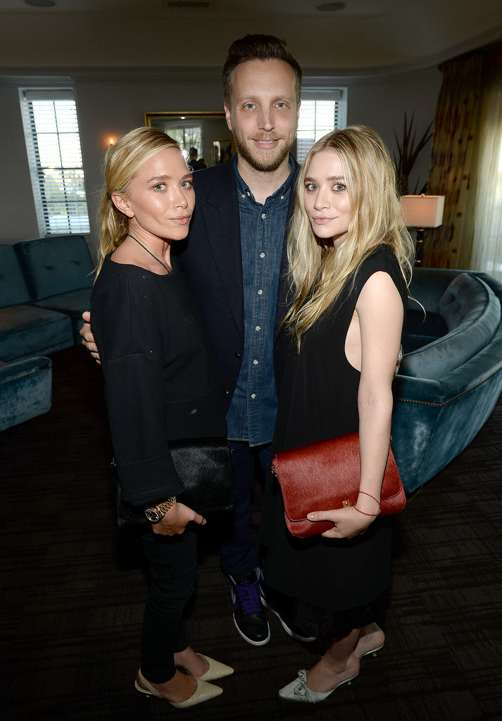Ashley Olsen, Ariel Foxman, and Mary-Kate Olsen at InStyle's celebration of the Elizabeth and James Fall 2013 handbag collection in Los Angeles.