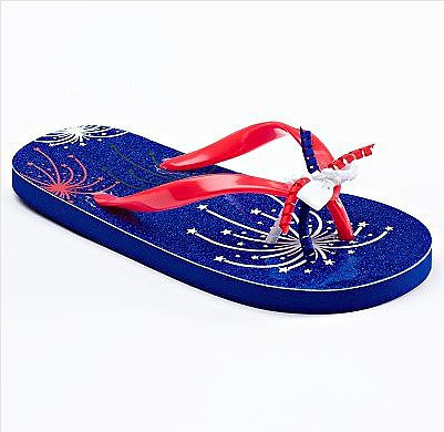 A festive holiday like the Fourth deserves footwear to match. These firework flip-flops ($5, originally $10) should do the trick!