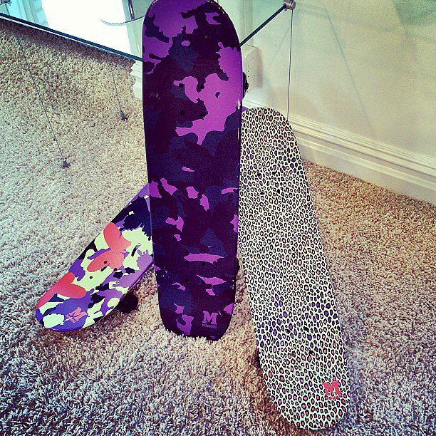 Yes, we saw an M Missoni skateboard. This is taking grunge to a whole new (stylish) level.