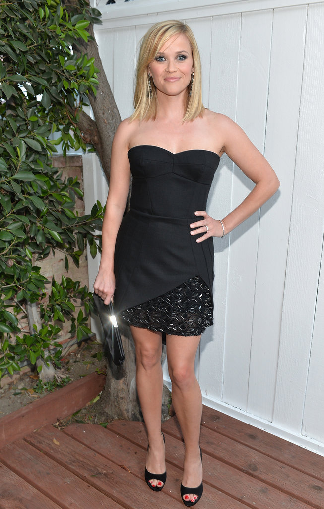 Reese Witherspoon looked equal parts sexy and chic in a strapless LBD for Benjamin Millepied's LA Dance Project Inaugural Benefit Gala.