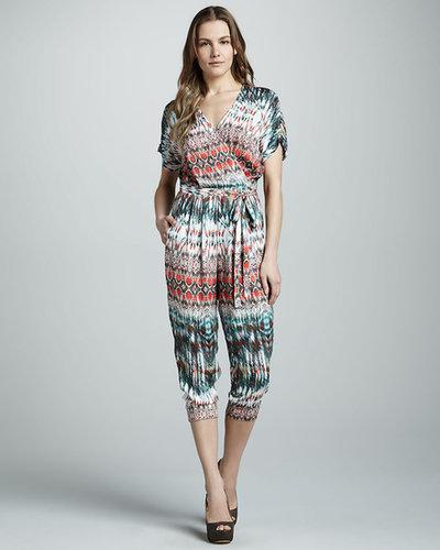 Velvet Blanca Tribal-Print Jumpsuit