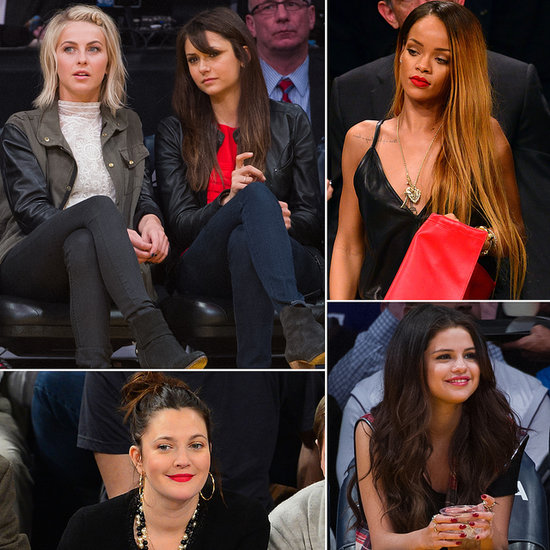 The Stars Show Off Their Courtside Style