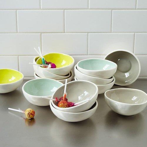 Colored Glaze Prep Bowls