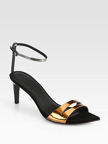 Tibi Louis Metallic Leather Sandals