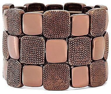 Liz Claiborne Bronze-Tone Stretch Bracelet
