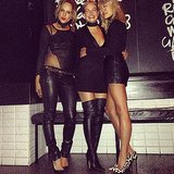 Pip Edwards, Lara Bingle and Vicki Lee showed off their legs at Fratelli Paradiso. Loving those boots, Lara! Source: Instagram user mslbingle