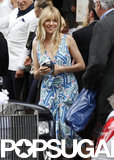 Sienna Miller arrived solo for her friend Fiona Young's wedding in June 2013 in London.