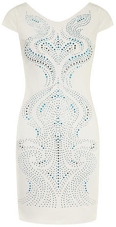 Doll and Frog Blue studded swirl dress