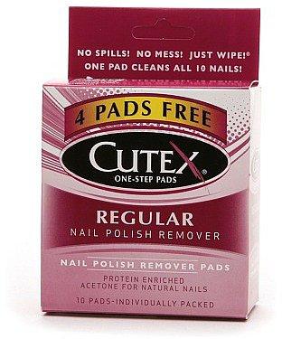 Cutex Nail Polish Remover Pads, Regular