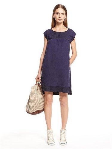 pureDKNY Hanky Linen Peasant Dress