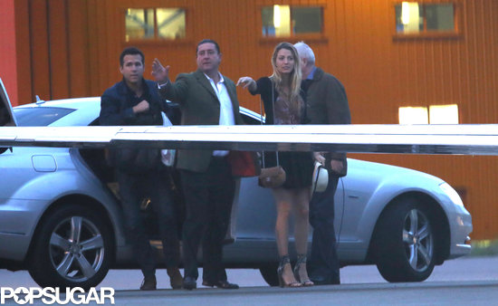 Blake Lively and Ryan Reynolds arrived at the airport.
