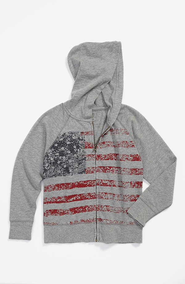 If an evening of watching fireworks on the beach turns chilly, Nordstrom's Peek Flag Hoodie ($48) is a patriotic way to warm up.