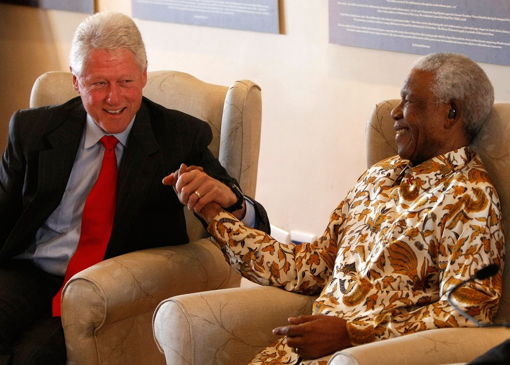 "In 2000, Nelson Mandela told Larry King about his relationship with former President Bill Clinton: ""Bill Clinton and I became friendly long before either of us became president, and he helped me a great deal. . . . I regard him, by the way, as one of the best leaders of the United States of America."""