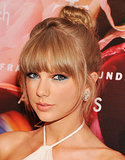 A few bobby pins kept Taylor Swift's loose topknot in place at the Fragrance Foundation Awards, further proving that for this style, the less fuss the better.