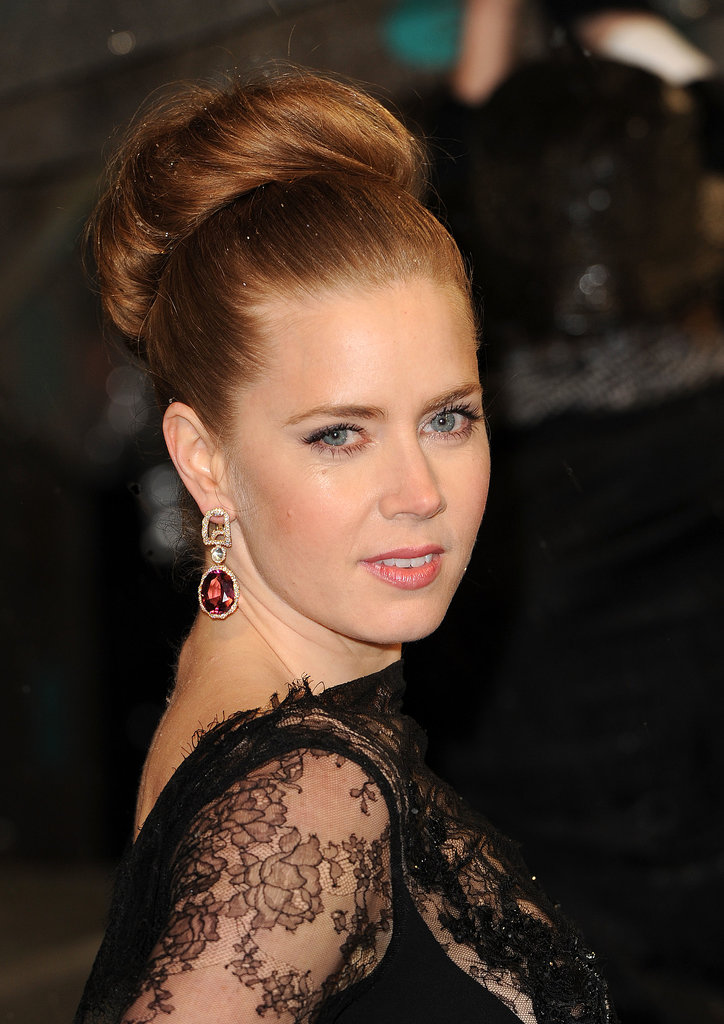 Amy Adams's big-time topknot is perfect for your most formal events.