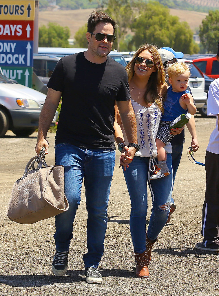 Hilary Duff and Mike Comrie went to the Underwood Family Farms in LA with Luca Comrie.