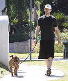 In July 2009, Justin Timberlake had his furry companion with him for a stroll in LA.