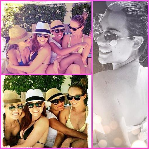 Lea Michele had a bikini getaway weekend with her girlfriends. Source: Instagram user msleamichele