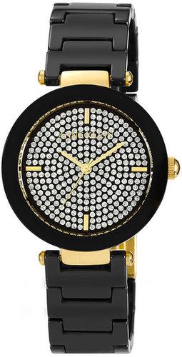 Anne Klein Pave Dial Ceramic Bracelet Watch