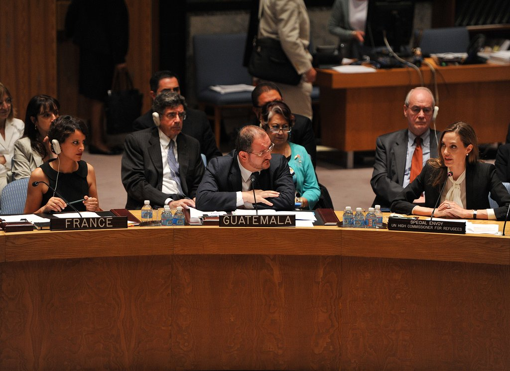 Angelina Jolie insisted that war-zone rape become a top priority for the UN Security Council.