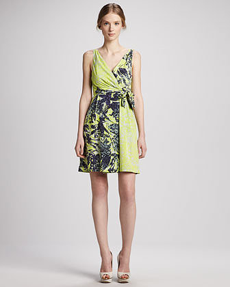 Yoana Baraschi Mixed-Print Party Dress