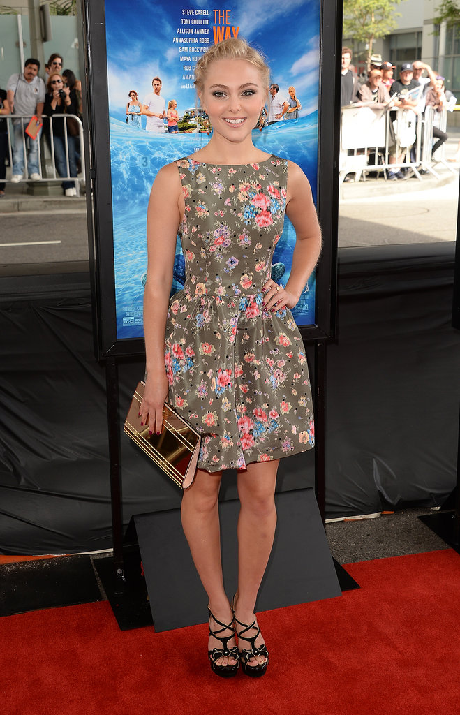 AnnaSophia Robb's floral fit-and-flare dress made a pretty statement at the Los Angeles Film Festival premiere of The Way, Way Back.