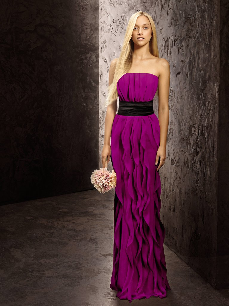 Strapless Crinkle Chiffon Dress with Mikado Sash ($188) Photo courtesy of White by Vera Wang