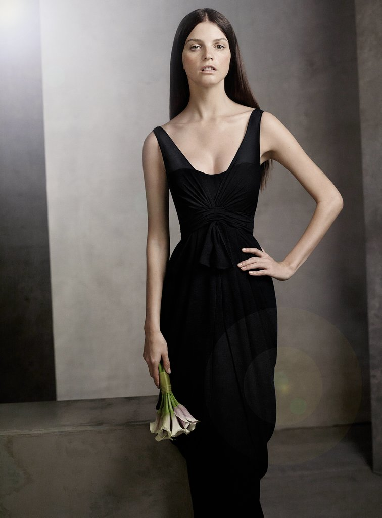 V Neck Sleeveless Chiffon Column Dress ($168) Photo courtesy of White by Vera Wang