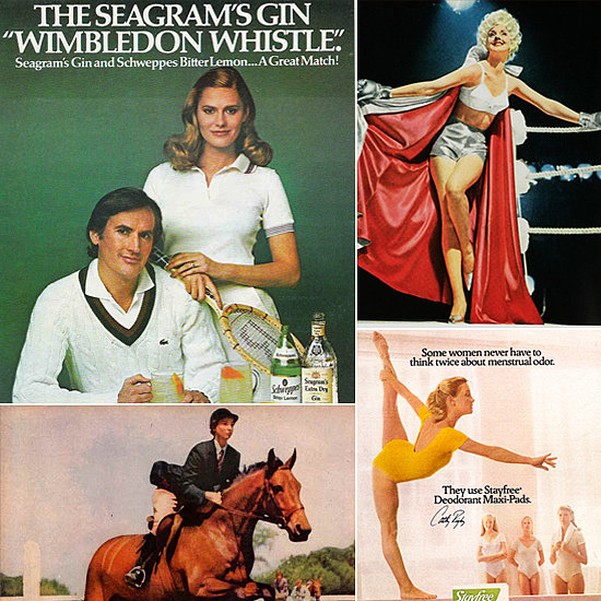 Welcome the Wimbledon Spirit With Women in Sporty Vintage Ads
