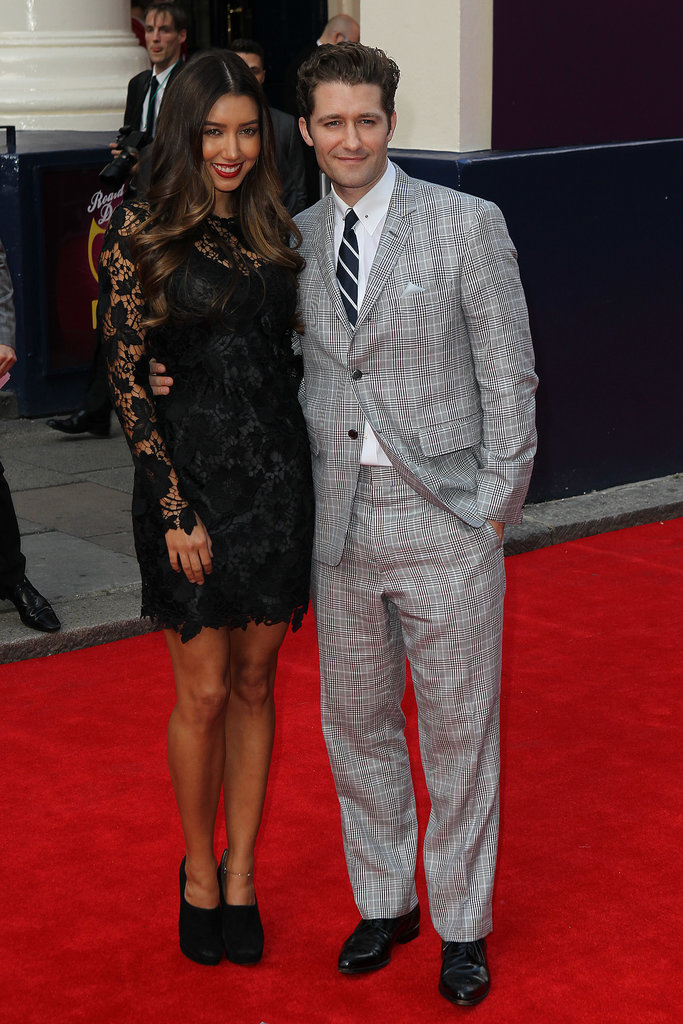 Matthew Morrison attended the press event in London with his girlfriend, Renee Puente.