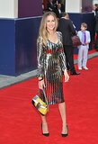 Sarah Jessica Parker wore a Marc Jacobs dress and carried a Fendi purse.