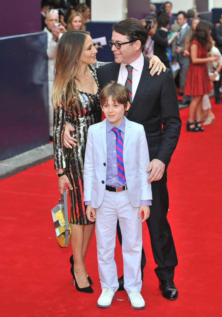 Sarah Jessica Parker, Matthew Broderick, and James Wilkie Broderick attended the premiere of Charlie and the Chocolate Factory in London.