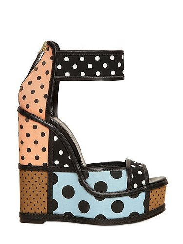 150mm Canvas Polka Dot Wedges