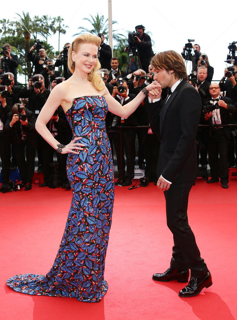 Keith flew to the Cannes Film Festival in May 2013 and planted a kiss on Nicole's hand on the red carpet for the Inside Llewyn Davis premiere.