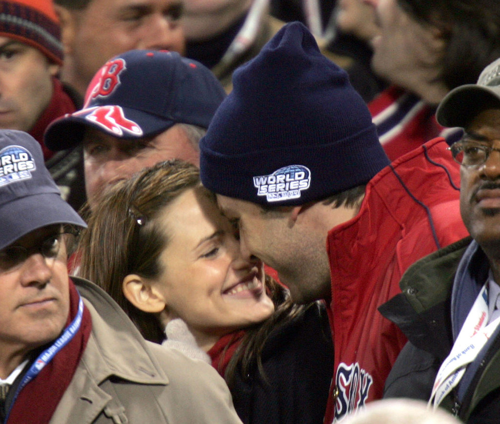 Ben and Jennifer nuzzled in the stands at the October 2004 World Series in Boston, marking their first public appearance as a couple.