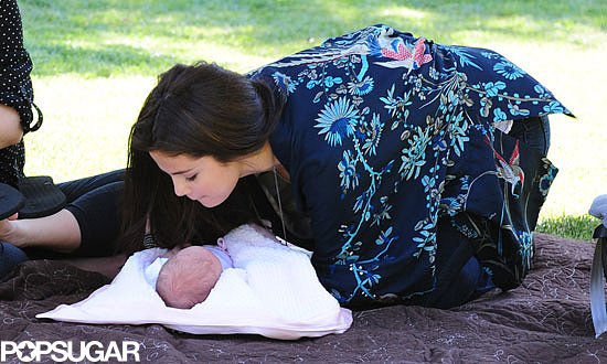 Selena Gomez showed her love for her newborn sister during a picnic in LA.