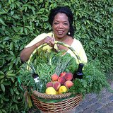 "Oprah showed off the ""harvest day vegetable basket"" that she prepared for her new neighbors, Ellen DeGeneres and Portia de Rossi. So sweet! Source: Instagram user oprah"