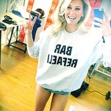 Bar Refaeli snapped a selfie wearing a sweatshirt with her name on it — where can we get one? Source: Instagram user barrefaeli