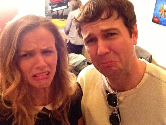 "Brooklyn Decker and Taran Killam cried ""tears of joy"" after wrapping up their latest project. Source: Twitter user BrooklynDecker"