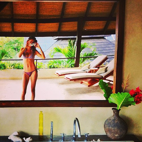 Gisele Bündchen snapped a pic of herself in a little bikini. Source: Instagram user giseleofficial