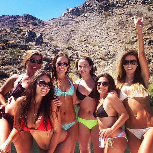 Audrina Patridge and her friends let loose in their bikinis.  Source: Instagram user audrinapatridge